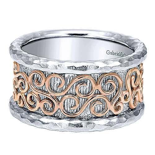 Gabriel - Silver-18K Rose Gold Fashion Ladies' Ring