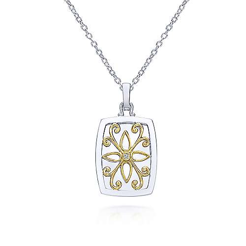 Silver-18K Yellow Gold  Fashion Necklace