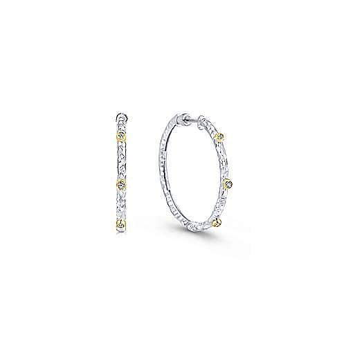 Gabriel - Silver-18K Yellow Gold 30MM Fashion Earrings