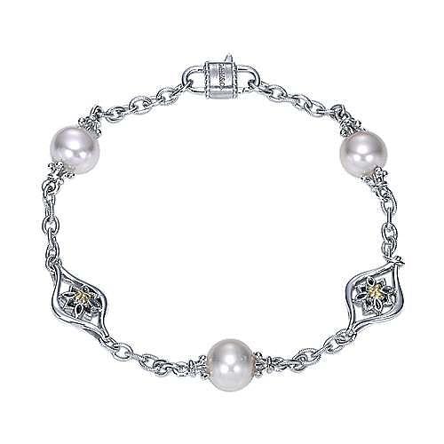 Gabriel - Silver-18K Yellow Gold Fashion Bracelet