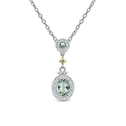 Gabriel - Silver-18K Yellow Gold Fashion Necklace