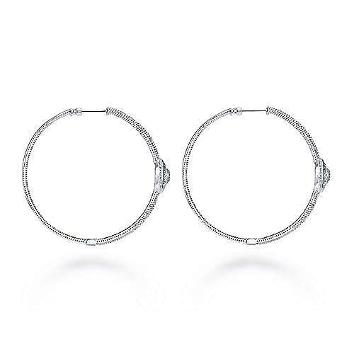 Silver 30MM Fashion Earrings