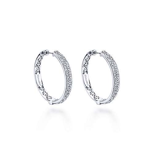 Gabriel - Silver 35MM Fashion Earrings