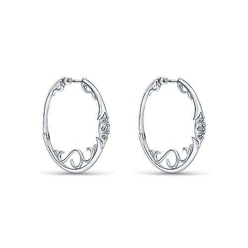 Gabriel - Silver 35MM Fashion Earrings