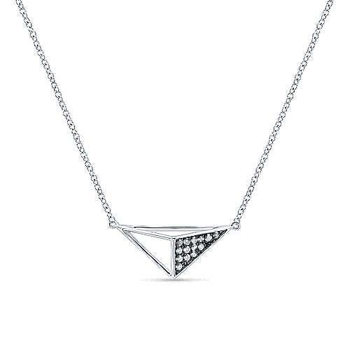 Silver Shadow Play Diamond Necklace
