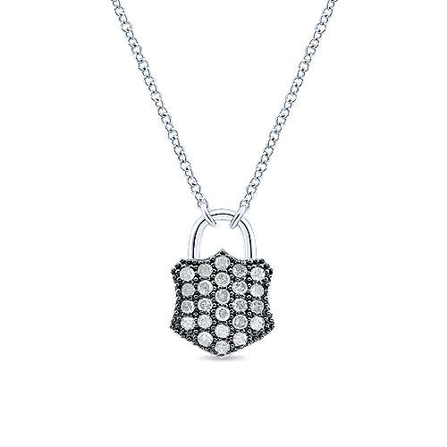 Silver Shadow Play Diamond Necklace