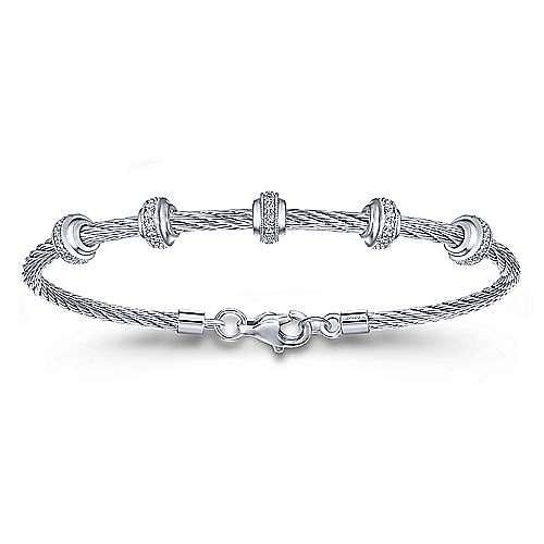 Silver-Stainless Steel Fashion Bracelet