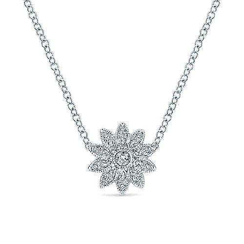 Silver White Sapphire Necklace