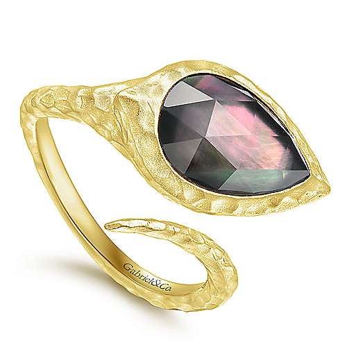Silver Yellow Plated Fashion Ladies Ring