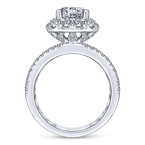 Skye 18k White Gold Round Halo Engagement Ring angle 2