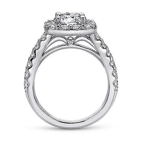 Skylar 14k White Gold Round Halo Engagement Ring