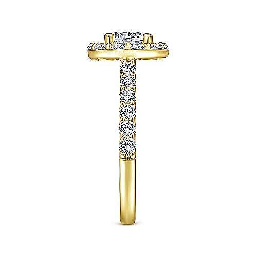 Skylar 14k Yellow Gold Round Halo Engagement Ring angle 5