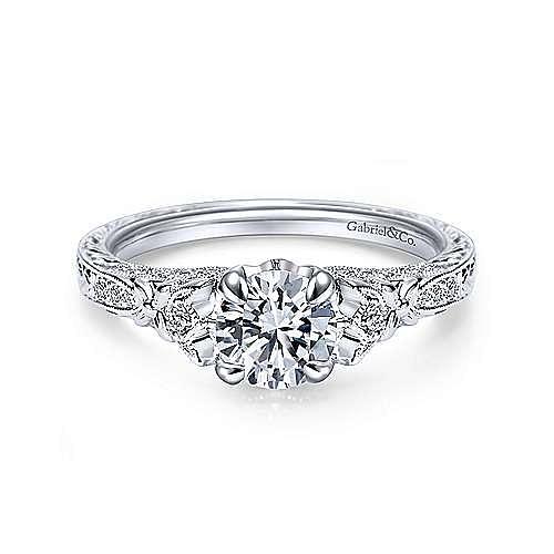 Gabriel - Soar Platinum Round Straight Engagement Ring