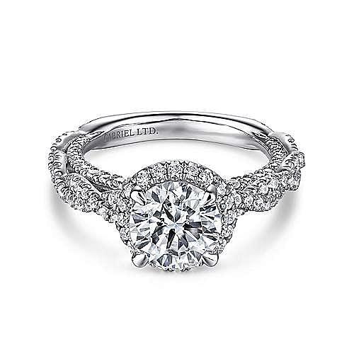 Gabriel - Soledad Platinum Round Halo Engagement Ring