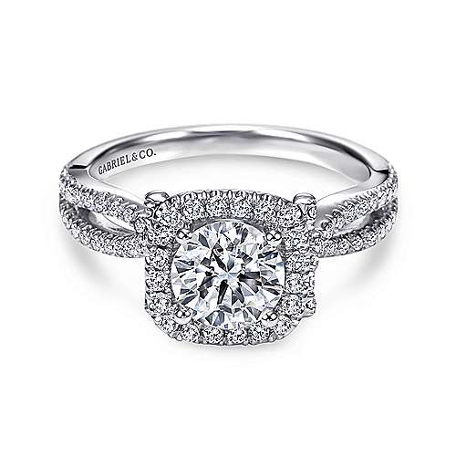 Gabriel - Sonya Platinum Round Halo Engagement Ring