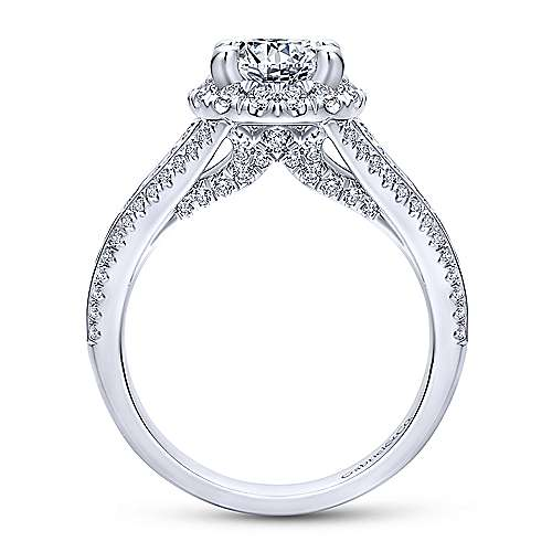 Sorrel 14k White Gold Round Halo Engagement Ring angle 2