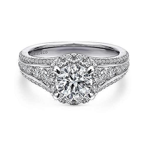 Gabriel - Sorrel Platinum Round Halo Engagement Ring