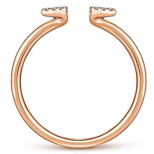Split 14K Rose Gold Pavé Diamond Triangle Ring