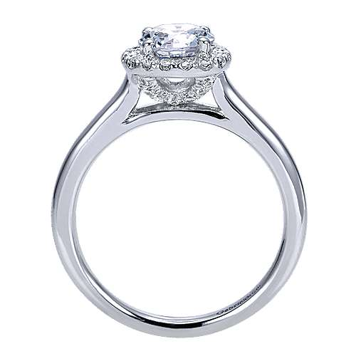 Stacy 14k White Gold Round Halo Engagement Ring angle 2