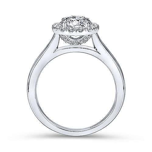 Stacy Platinum Round Halo Engagement Ring angle 2