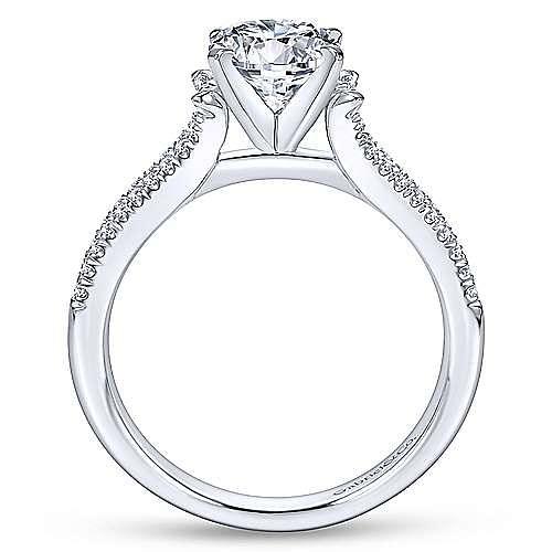 Talisa 14k White Gold Round Split Shank Engagement Ring angle 2