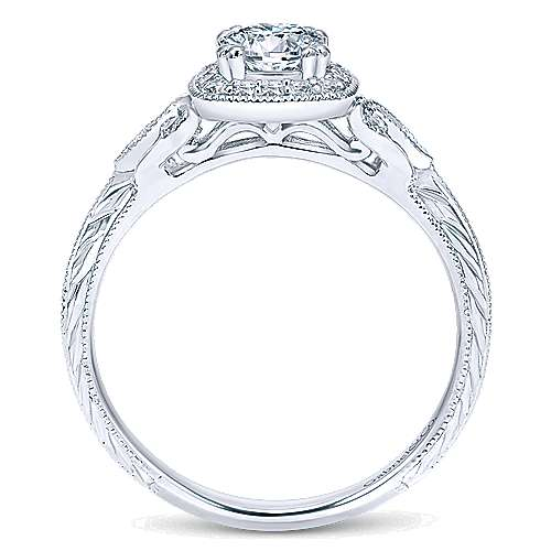 Temperance 14k White Gold Round Halo Engagement Ring angle 2