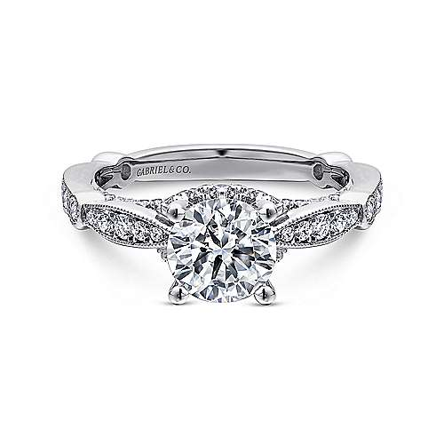 Entwined Collection Interwoven Set Engagement Rings Gabriel Co