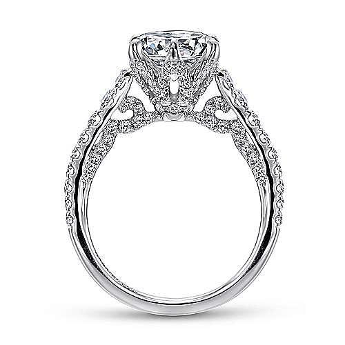 Tia 18k White Gold Round Straight Engagement Ring