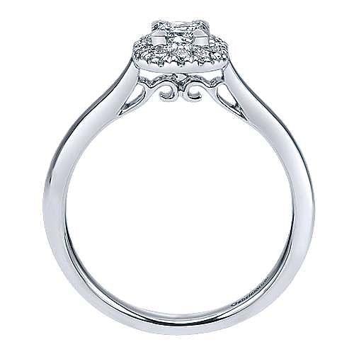 Toni 14k White Gold Princess Cut Halo Engagement Ring angle 2