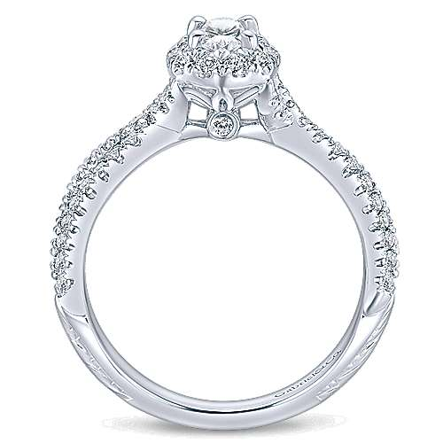 Trimble 14k White Gold Oval Halo Engagement Ring angle 2