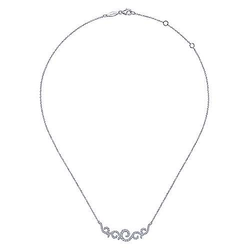Vintage 14K White Gold Diamond Necklace
