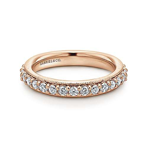 Gabriel - Vintage 14k Rose Gold Prong Set Eternity Band