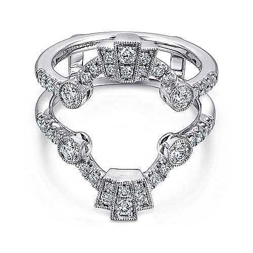 Gabriel - Vintage 14k White Gold Diamond Enhancer
