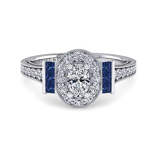 21+ Oval Halo Sapphire Engagement Rings PNG