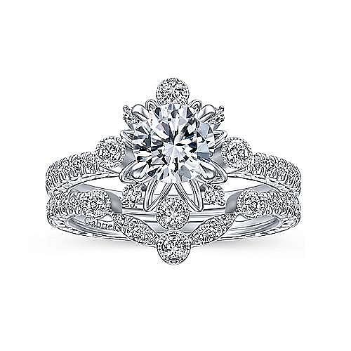 Vintage Platinum Diamond Matching Wedding Band