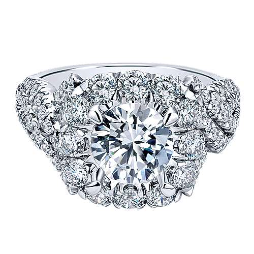 Gabriel - Visionary 18k White Gold Round Halo Engagement Ring