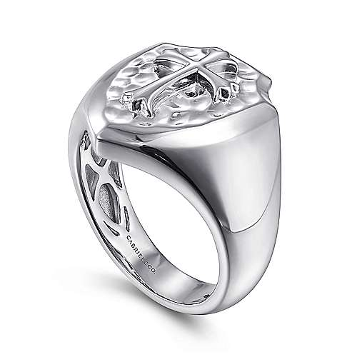 Wide 925 Sterling Silver Cross Ring