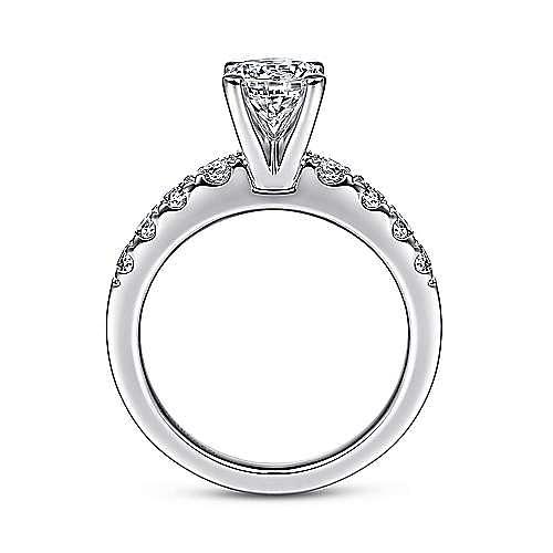 Wyatt 14k White Gold Round Straight Engagement Ring angle 2