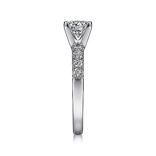 Wyatt 14k White Gold Round Straight Engagement Ring angle 5
