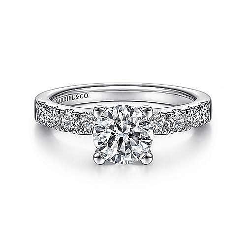 Gabriel - Wyatt Platinum Round Straight Engagement Ring