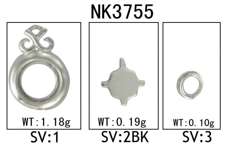 Silver Fashion Necklace angle