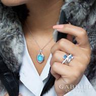 925 Silver Contemporary Fashion Necklace angle