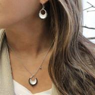 Silver Fashion Earrings angle