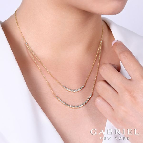 14K Yellow Gold Fashion Necklace angle