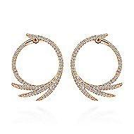 14K Pink Gold Diamond Earrings