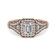 14K Pink Gold Engagement Ring