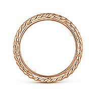14K Pink Gold Fashion Ladies' Ring