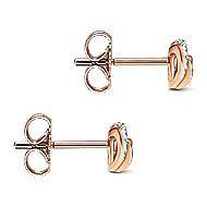14K Rose Gold Diamond Earring
