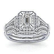 14K W.Gold Dia Eng Ring