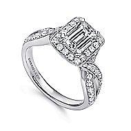 14K W.Gold Diamond Eng.Ring